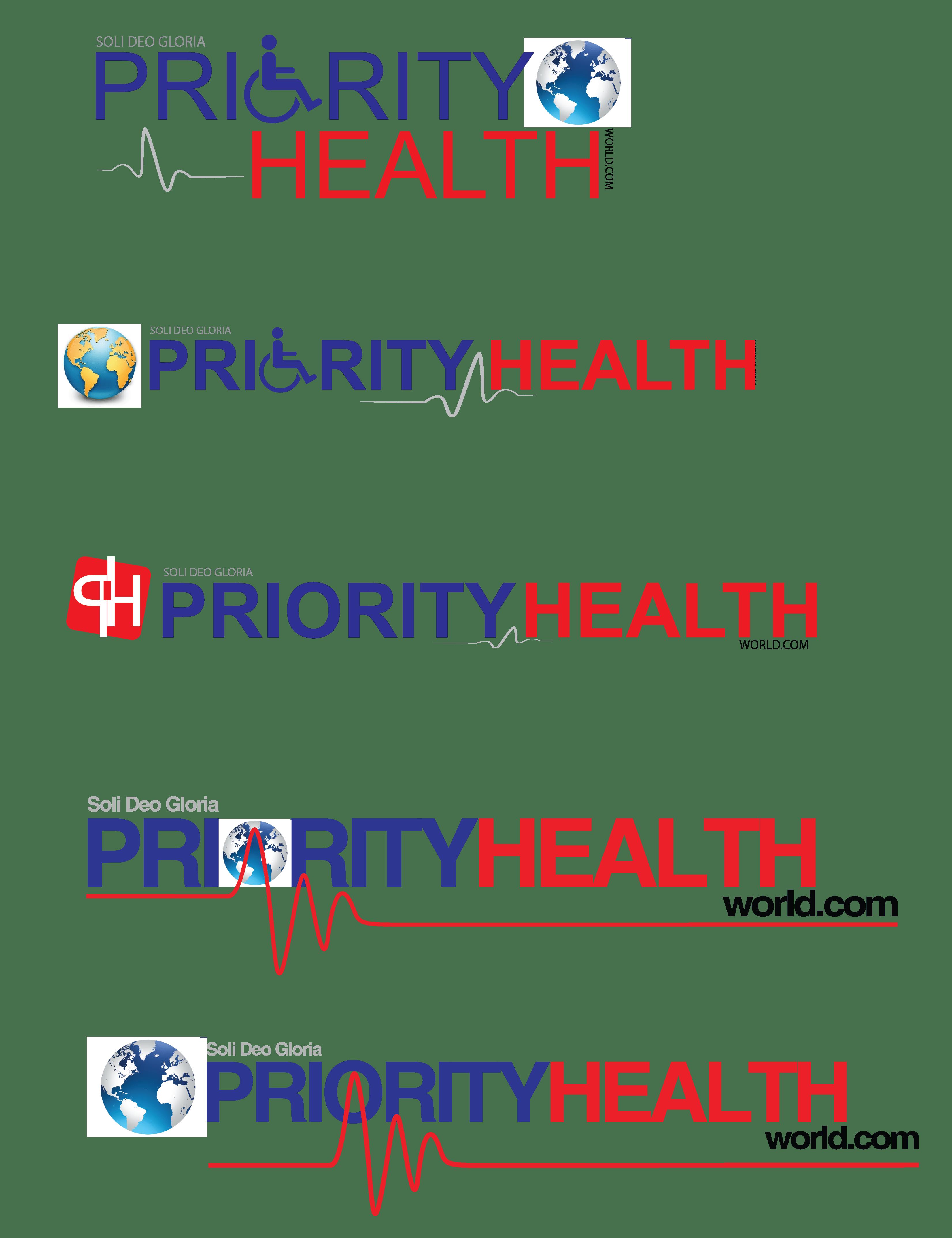 logo concept for priority health world  sri lanka